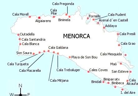 Playas En Menorca Charter Menorca